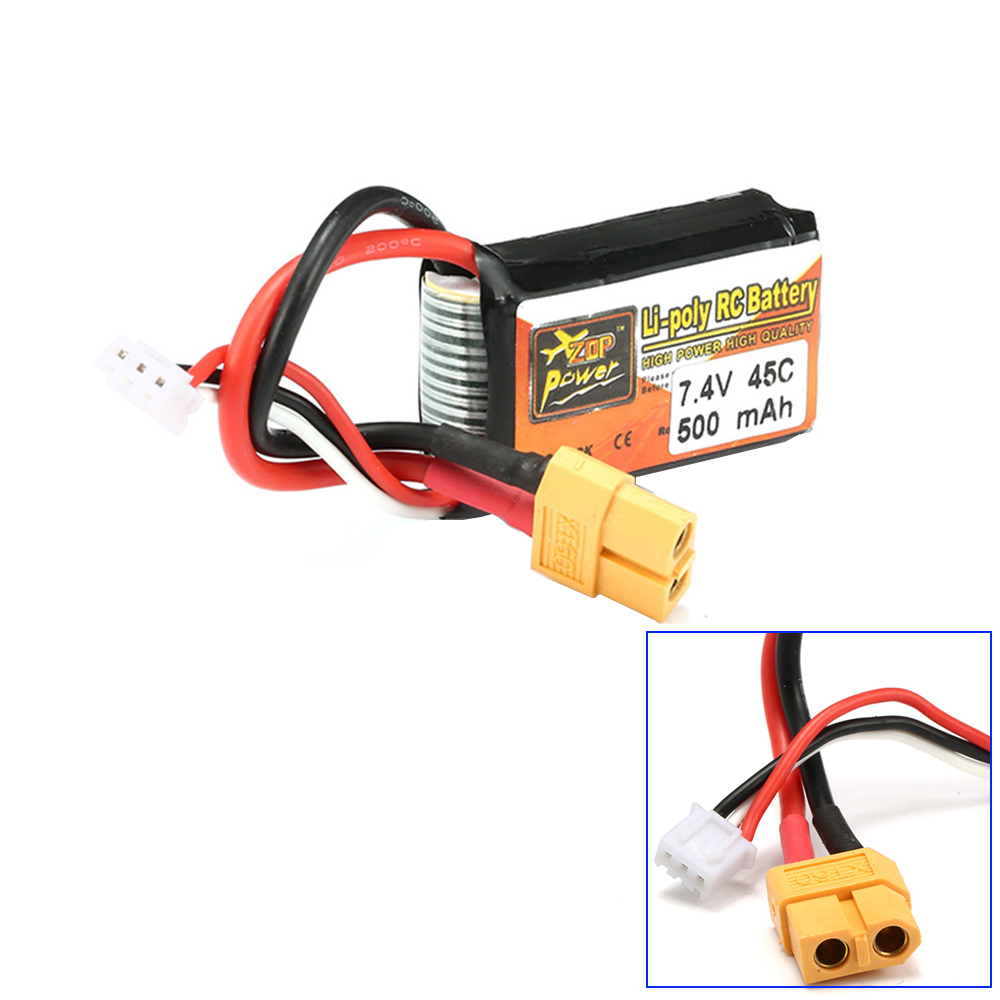 1pcs ZOP Power LiPo Battery 7.4V 500mAh 45C 2S XT60 Plug For RC Quadcopter Drone Helicopter Car Airplane все цены