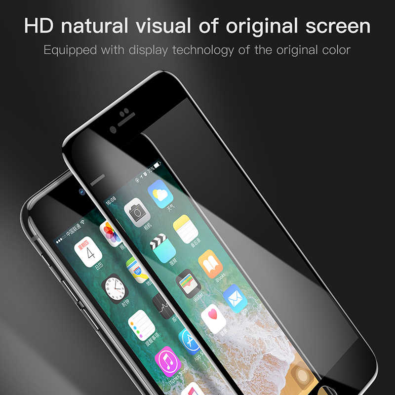 Baseus 5D واقي للشاشة الزجاج المقسى آيفون 8 7 Plus غطاء كامل واقية تشديد زجاج عليه طبقة غشاء رقيقة آيفون 8plus 7plus