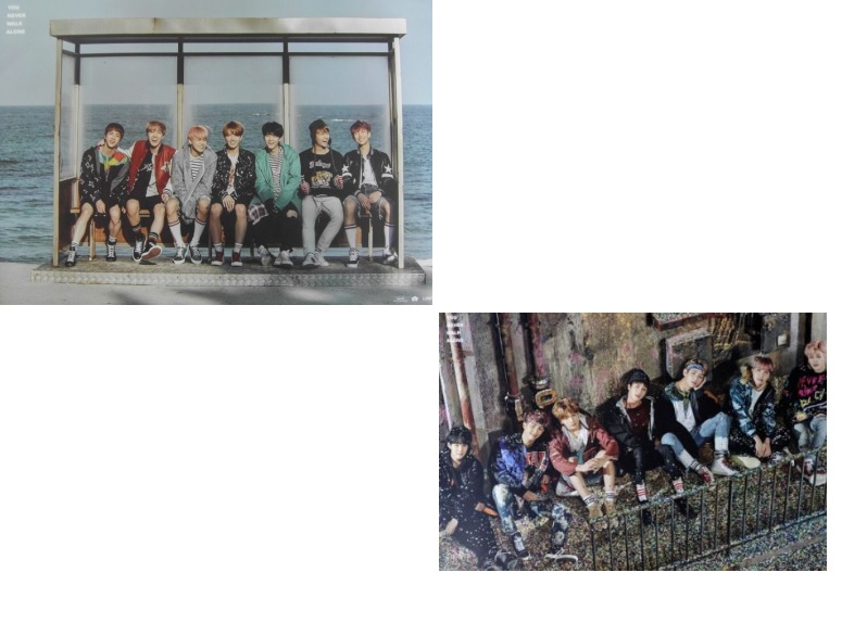BTS - You Never Walk Alone (Left Ver. + Right /Version)  OFFICIAL POSTER