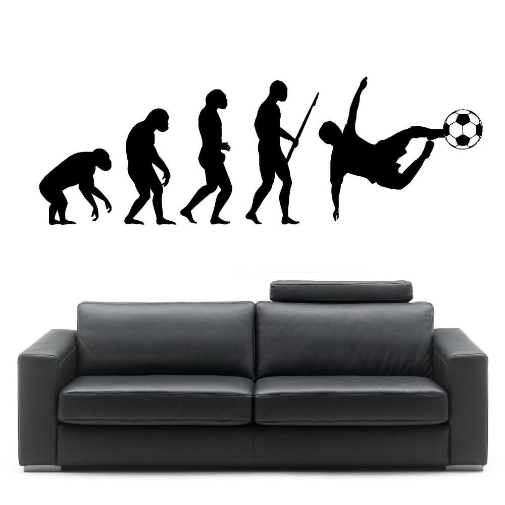 Evolution Of Man Football Darwin Wall Art Sticker Room Decal Mural Art Decor  Bedroom Living Room