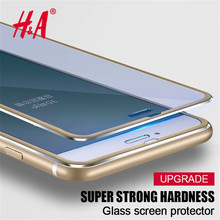 Tempered Glass For iphone 6 6S 7 Plus 5 5S SE Full 9H Screen Protector Protective Guard 3D Aluminum Alloy Film For iPhone 7