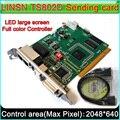 Светодиодный Дисплей Управление системы, LINSN TS802D отправки карты, полный Цвет P3 P4 P5 P6 P7.62 P10 светодиодный модуль управления карта