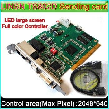 Sistema de controle de Display LED, TS802D LINSN Envio de cartão, full Color P3 P4 P5 P6 P7.62 P10 LED cartão de Controle de Módulo