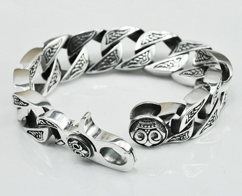 Thai silver original handmade silver jewelry 925 sterling silver domineering vintage Chain & Link bracelets thai silver bracelets