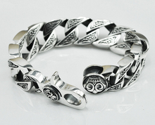 Thai silver original handmade silver jewelry 925 sterling silver domineering vintage Chain & Link bracelets