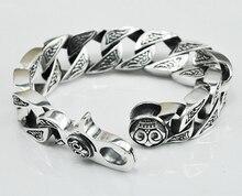 Thai silver original handmade silver jewelry 925 sterling silver domineering vintage Chain & Link bracelets