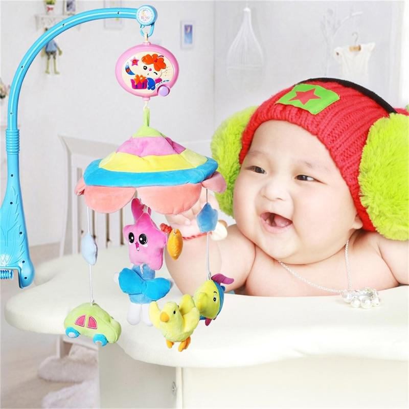 Newborn Appease Animal Plush Rattles Musical Bell Toy Cute Soft Comfort Hanging Bed Bell Doll Rattle Baby Gift