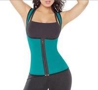 Double Shoulder Back Support Full Sport Neoprene Vest Waist Cincher Trainer Gym Fitness Slimming Waist Training