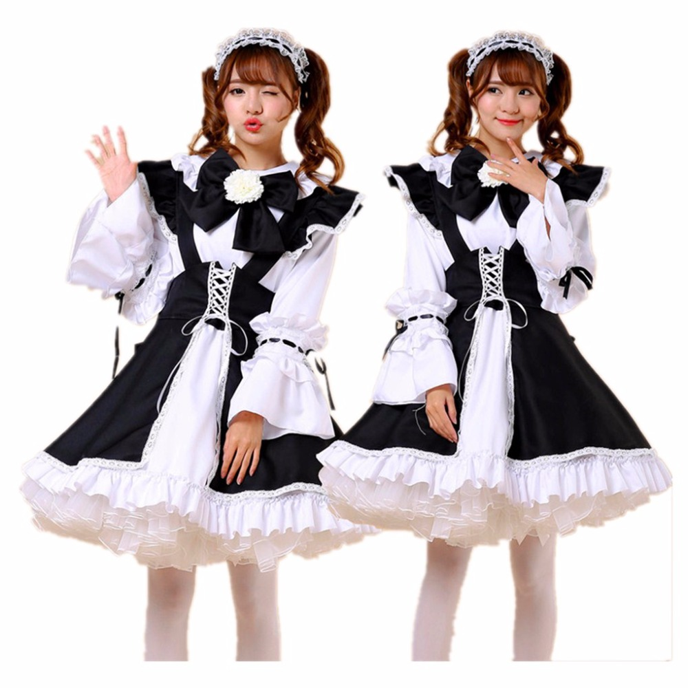 Shanghai Story Girls Lolita Dress Maid Cosplay Costume Fantasia Carnival Costumes For Women Girl Lolita Cosplay