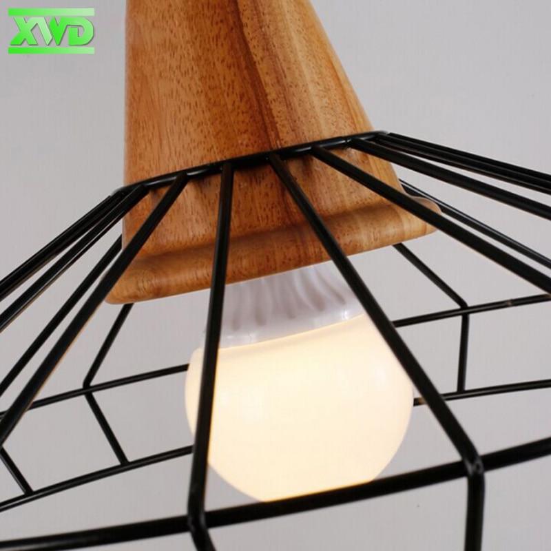 Lámpara colgante de interior de madera de hierro de la vendimia Bar - Iluminación interior - foto 5