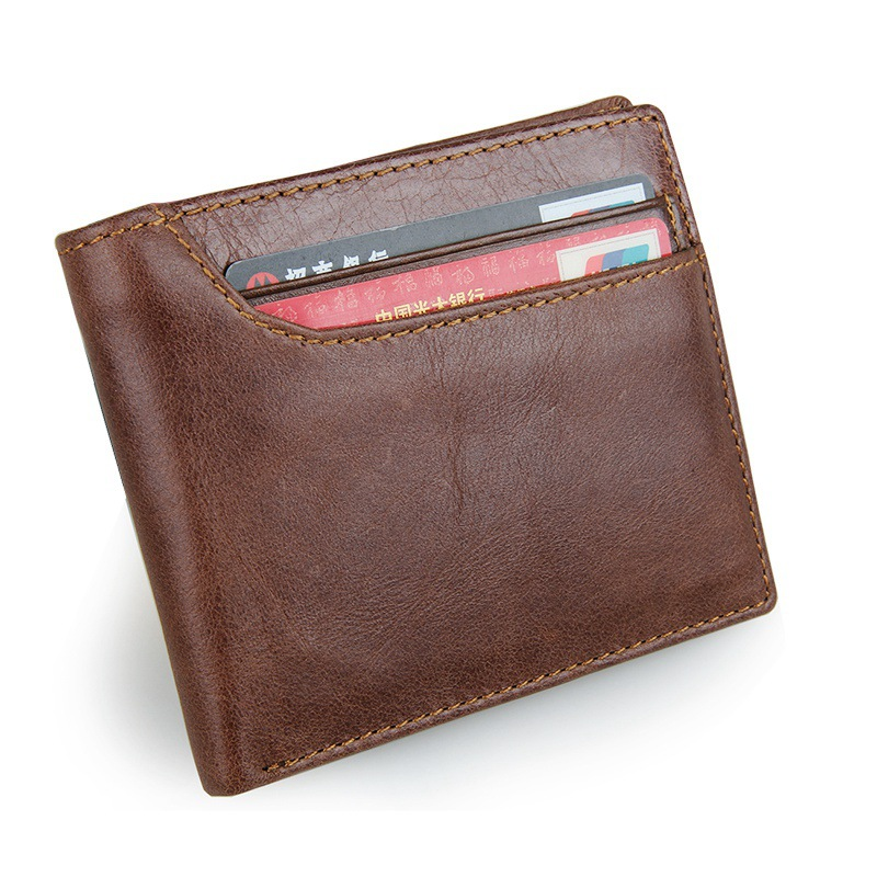 New Cow Leather Wallet Men Fashion Bifold Male Short Card Wallet Genuine Leather Purse For Men Card Holder 2017 new wallet men purse fashion leather 6 card holder sim card holder brand wallet men split cow leather purse small purses