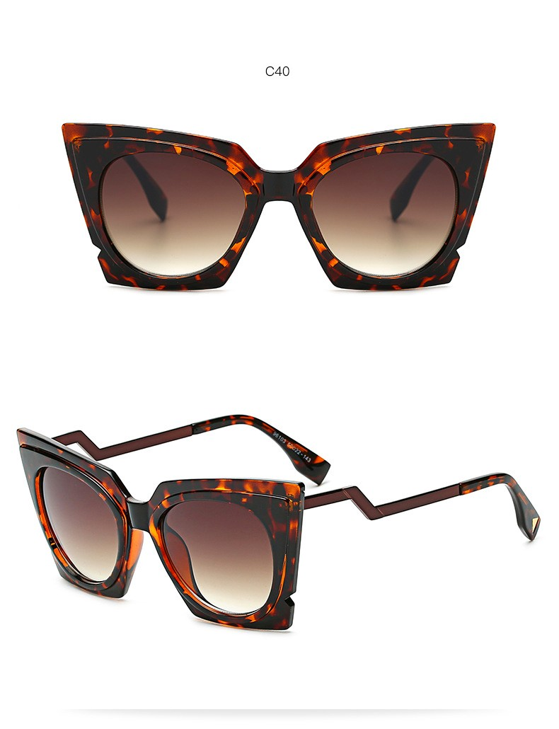 Mode Retro Frauen Marke Designer Katzenaugen sonnenbrille Dicke ...
