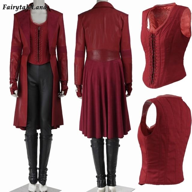 Wanda Maximoff Scarlet Witch Cosplay Costume Captain America Civil