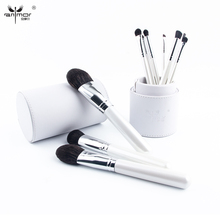 Anmor 10 pcs/set Professional Makeup Brushes High Quality Make Up Brushes Set with Brush Holder White Color CP001