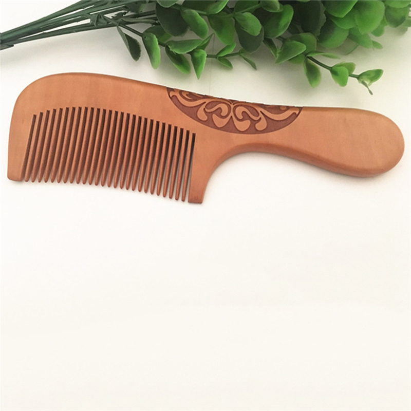 Professional Handmade Natural Ox Horn Pear Wood Comb Wooden Handle Combs Hair Style Designer For Ladies Great Gift