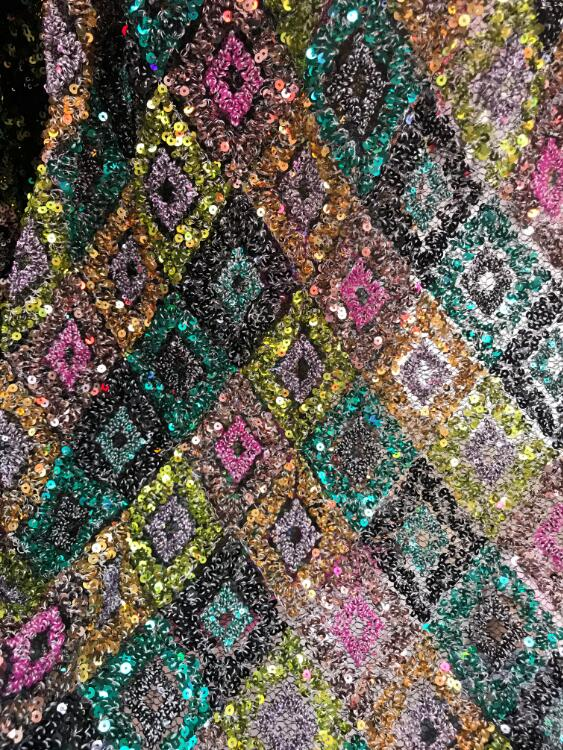 good selling JIANXI C 12331 french net lace fabric with sequins pretty Tulle net lace fabric
