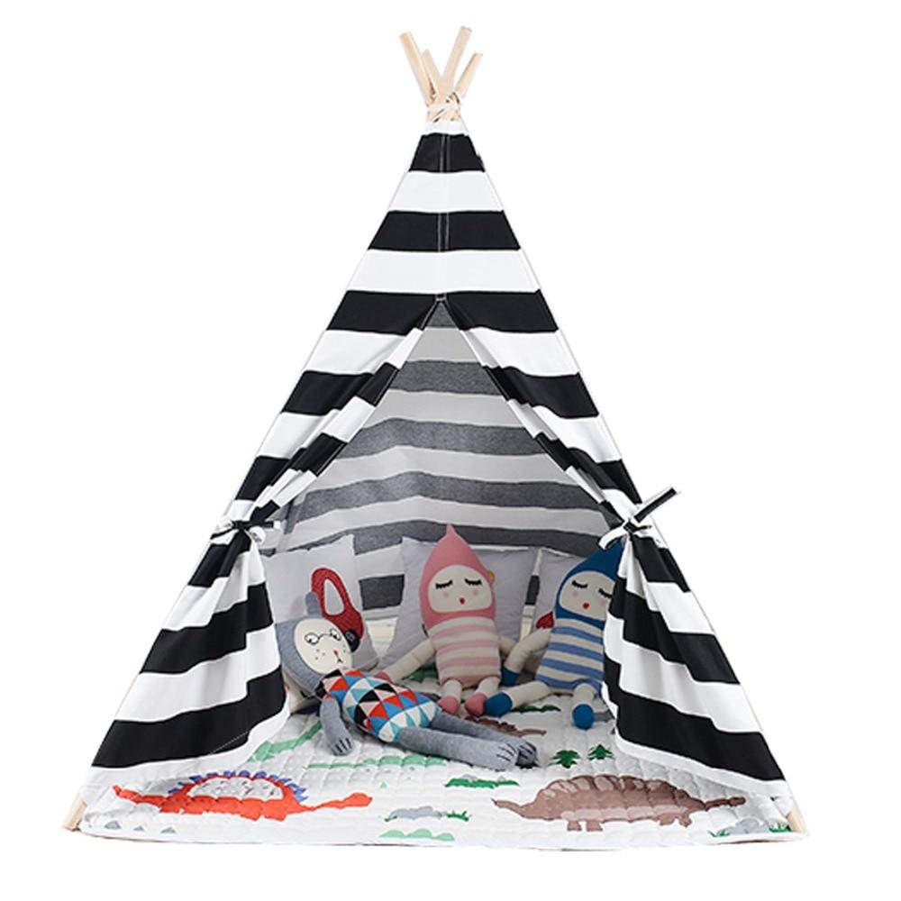Poważnie Biały i czarny kolor dzieci gry pokój namiot Tipi sprzedam z maty WW05