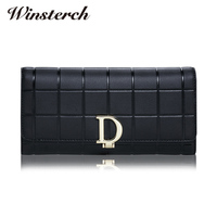 Luxury Brand Designer Genuine Leather Women Wallet Long Fashion Female Clutch Phone Purse Coin Credit Card