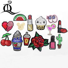 1PCS Patch cartoon Sequins eyes heart Embroidered Cute Patches Iron On  Cartoon Patches For Clothes Kids Jeans Applique Badges 1875f842c72d