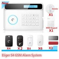 2018 акция цена etiger S4 GSM сигнализация смарт DIY Главная Охранной Сигнализации система с солнечной Strobe Siren