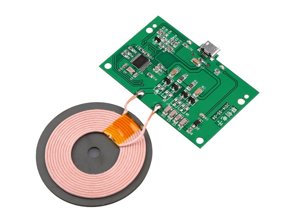 Wireless Charger Pcba Circuit Board With Qi Standard Coil Diy Wireless