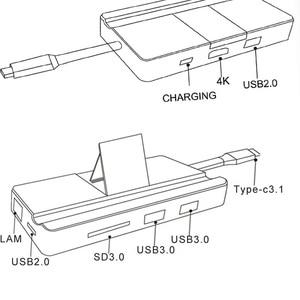 Image 5 - ドッキングステーションオールインワン USB C hdmi カードリーダー PD アダプタ MacBookType C ハブドッキングステーション
