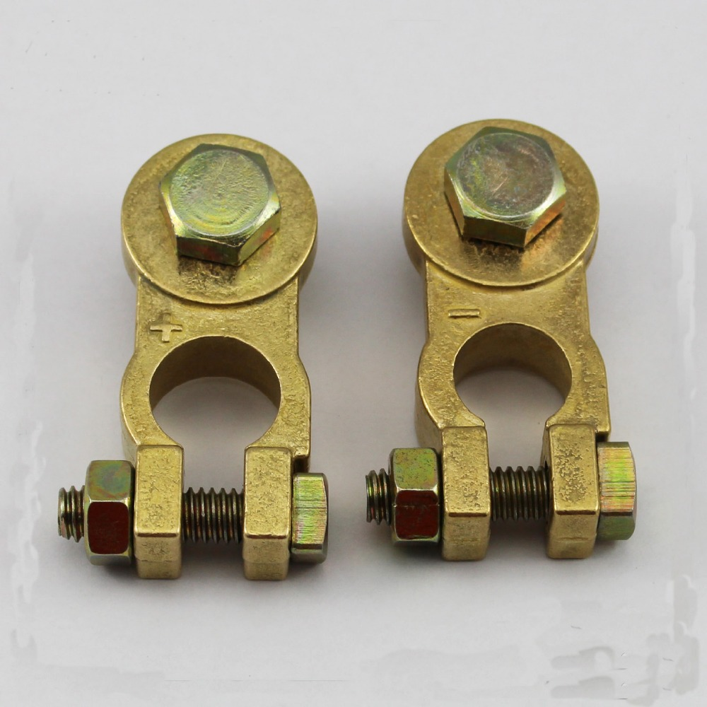Car Battery Thicker Pure Copper Terminal Connector Pile Head Motorcycle Wiring Terminals Joint Clip Storage Pole Clamp Ht394 In From Home Improvement On