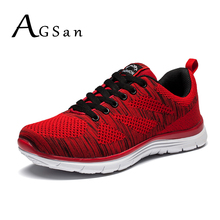 AGSan Fashion Men Casual Shoes Plus size 2017 Spring New Design lightweight Breathable Mesh trainers Man Solid Footwear
