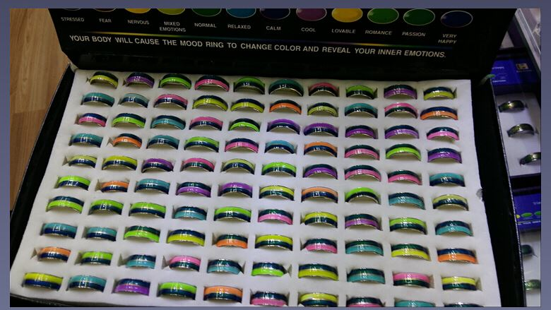 Night Lights ring MOOD Rings mood ring noctilucence ring changes color to the temperature of your