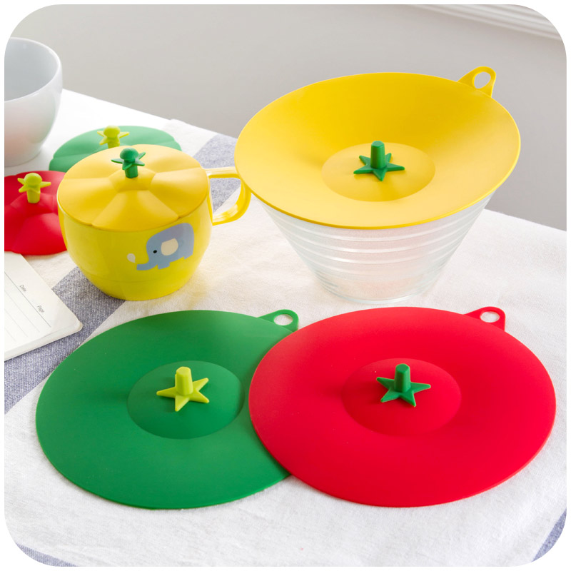 Free shipping creative vegetables styling bowl lid, Small non-toxic silicone <font><b>cup</b></font> cover kitchen dishes universal <font><b>dust</b></font> cover K2116