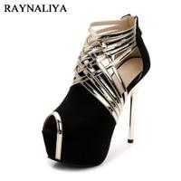 Big Size 35 44 Sexy Platform Ladies Peep Toe Shoes 14cm Stiletto Heel Women Prom Shoes