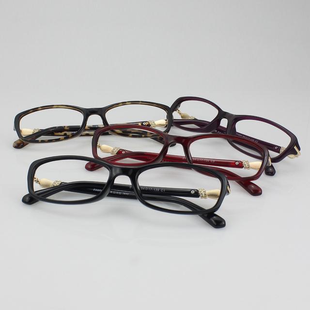 Novos óculos da marca quadro mulheres moda óculos optical miopia óculos óculos de prescrição quadro 1324 ( 54 - 17 - 139 )