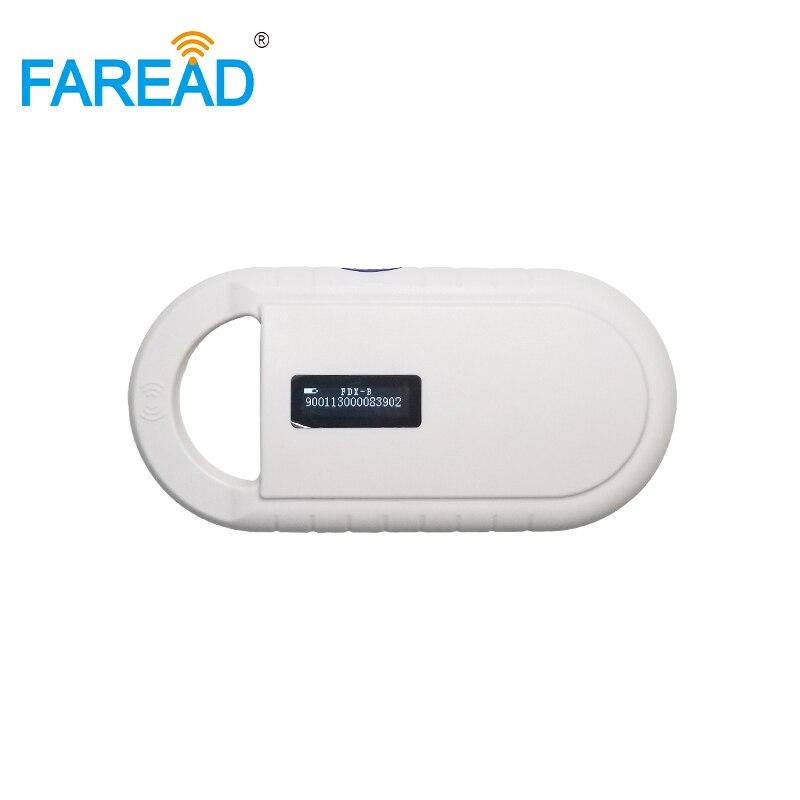 Livraison gratuite CE, ROHS intégré batterie RFID Portable poche USB FDX-B chien scanner lecteur de micropuce pour animal chat animal de compagnie