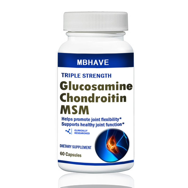 Glucosamine Chondroitin MSM & Vitamin C 80mg Tablets High Strength Joint Support 60 capsule