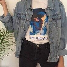 Kuakuayu HJN Lorde Capa Do Álbum Melodrama Pintura T-Shirt da Música Pop  Gráfico Tee Grunge Estética Street Style T Camisa 79e9e3cce2641