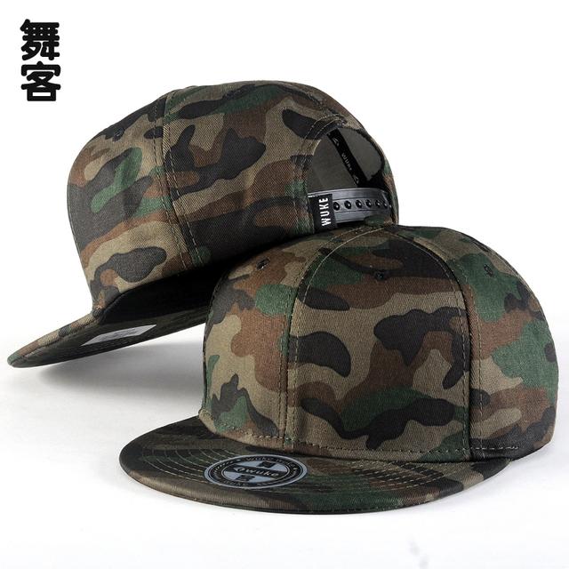2016 novo hop camuflagem boné de beisebol primavera e no verão chapéu chapéu masculino