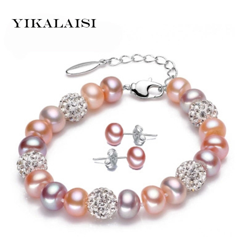 YIKALAISI 2017 Charm Bracelet Pearl Jewelry Bracelet 100%Natural Freshwater Pearl 925 Sterling Silver jewelry Bracelet For WomenYIKALAISI 2017 Charm Bracelet Pearl Jewelry Bracelet 100%Natural Freshwater Pearl 925 Sterling Silver jewelry Bracelet For Women