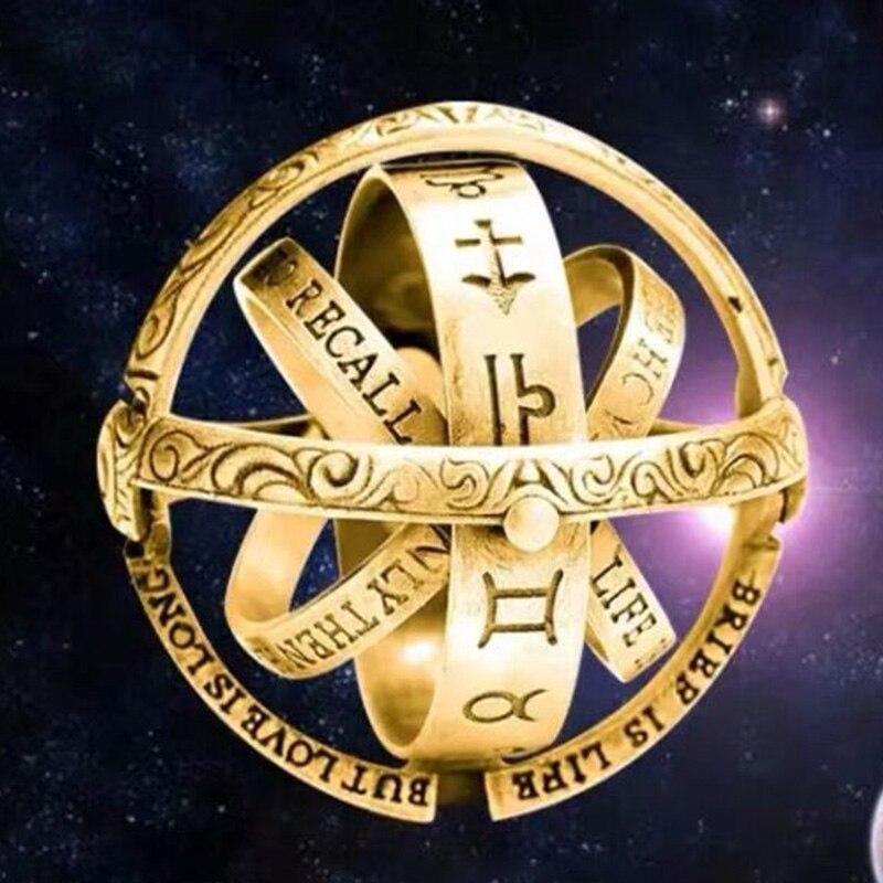 Astronomico palla 925 anelli In Argento Sterling per l'amante Tedesco retro vibrazione palla deformazione universo monili di modo mygrillz-in Anelli da Gioielli e accessori su  Gruppo 1
