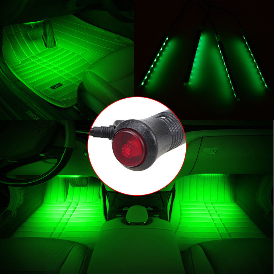 Universal Car Interior Led Strip Decoration Atmosphere Lights Lamp With Cigarette Lighter Charge