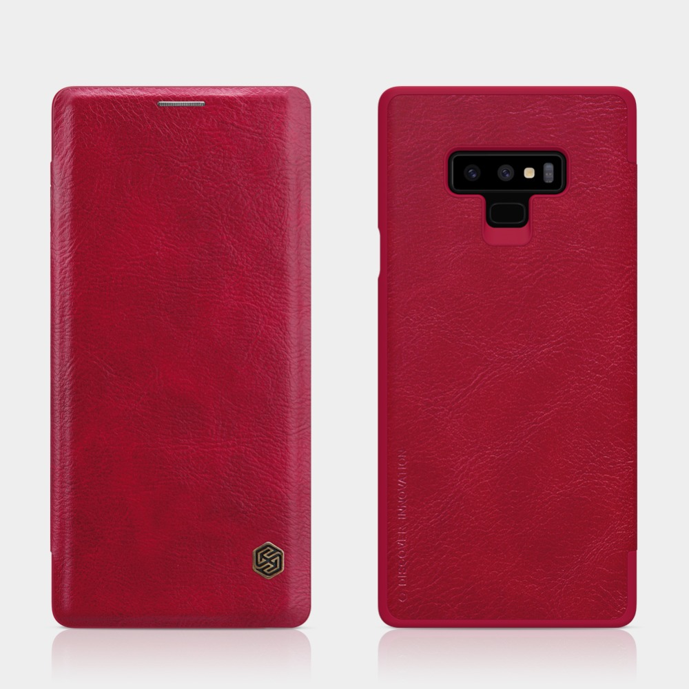 Note 9 phone case Nillkin Qin Vintage Note 9 Leather Wallet  Case sfor Samsung Galaxy Note 9 Note9 Business Book Flip Cover Note