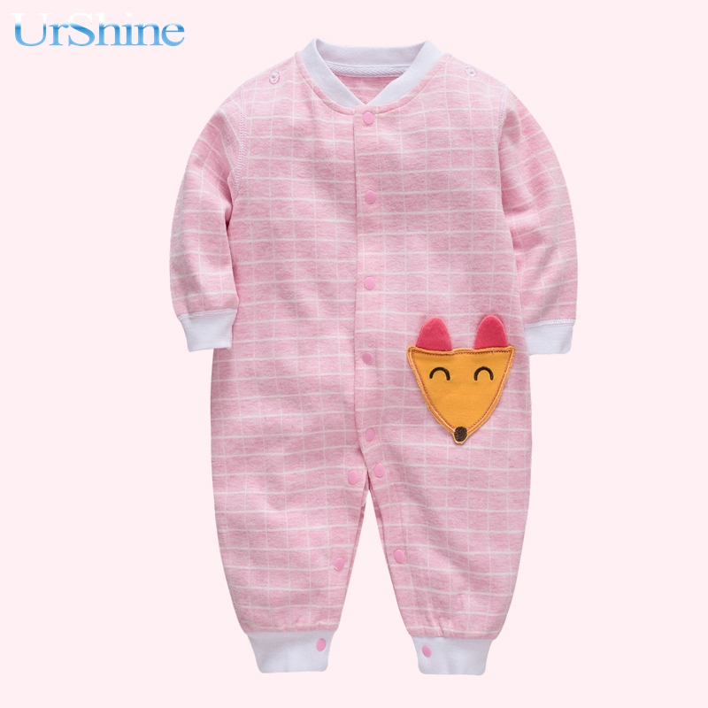 Cotton Fabric Baby Girl Romper Winter Overalls For Kids High Quality Clothes For Newborn Pink Jumpsuit Baby Romper 2018 Infant