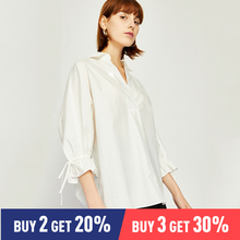 Toyouth White Office Lady Elegant Ruffle Sleeve V neck Solid Blouse Spring Autumn Sexy Women Tops And Blouses shein white office lady elegant lantern sleeve surplice peplum off the shoulder solid blouse autumn sexy women tops and blouses
