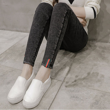цена на Denim jeans High Maternity Clothes Maternity trousers pregnancy Capris Maternity Pants For Pregnant Women