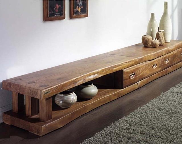 Tv Kast Antiek : Korea authentieke oude iep lange tv kast massief hout antieke