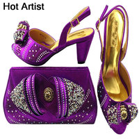 Hot Artist 2018 Newest Italian Shoes With Matching Bag Shining In Wedding Shoes With Matching Bags