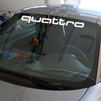 76 9 5cm 2x Quattro Quattro For Honda Audi Front Windshield Banner JDM Decal Car Stickers