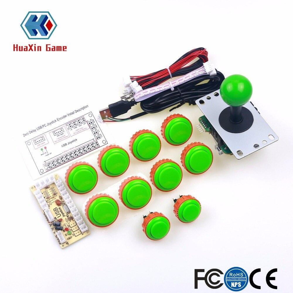 купить Classic 2 Player Sanwa Joystick Arcade Video Games Kit for PC Joystick & Raspberry Pi RetroPie DIY Projects & Mame Jamma Parts по цене 2947.01 рублей