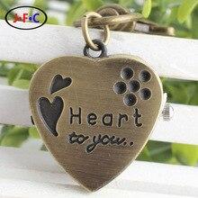 Coreano moda retro quartz heart-shaped amor morango virar Chaveiro assista jóias relógio de bolso YS013