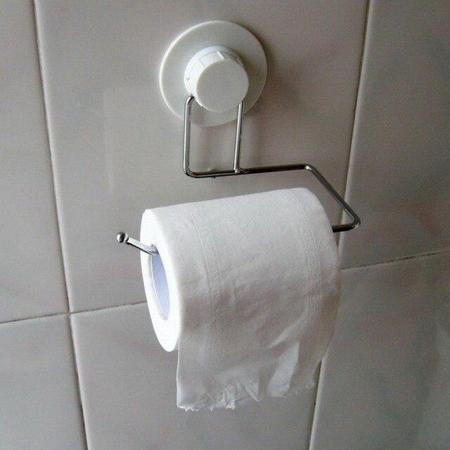 20F# Toilet Tissue Paper Tower Shelf Holder Bathroom Suction Hanger Tissue  Rack Kitchen Towel Hook