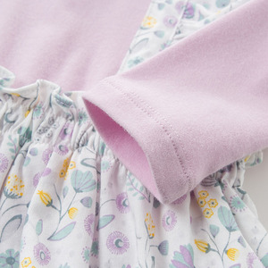 Image 5 - DBH10042 dave bella 6M 3Y yeni doğan rompers bebek uzun kollu çiçek tulum bebek yürümeye başlayan butik onesies kız romper